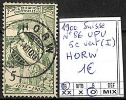[840631]TB//O/Used-Suisse 1900 - N° 86, 5c Vert (I) HORW - 1882-1906 Coat Of Arms, Standing Helvetia & UPU