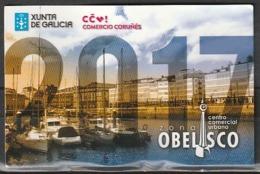 Calendario Bolsillo Zona Obelisco Coruña 2017 Pocket Calendar Kalender Calendrier Kalendar - Calendarios