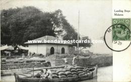 Malay Malaysia, MALACCA, Landing Steps (1921) Postcard - Malaysia