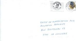 """Flamme """"Fête De La Musique 20 Ans"""" Sur Lettre De Bruxelles Du 1/6/2004 - Postmark Collection"""