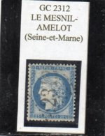 Seine-et-Marne - N° 60A Obl GC 2312 Le Mesnil-Amelot - 1871-1875 Cérès