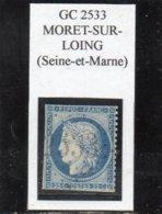 Seine-et-Marne - N° 60A (défect) Obl GC 2533 Moret-sur-Loing - 1871-1875 Cérès