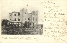 Malay Malaysia, JOHOR JOHORE, A Datu's House (1904) Postcard - Malaysia