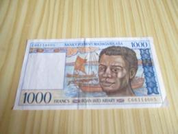 Madagascar.Billet 1000 Francs. - Madagascar