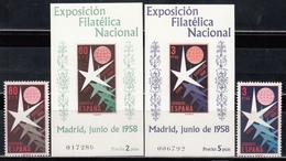 1958    Edifil Nº 1220 / 1221, 1222 / 1223, MNH - 1931-Hoy: 2ª República - ... Juan Carlos I