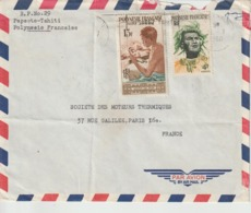 Lettre Polynésie 1960 Pour La France - Polynésie Française