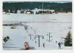 39 Lamoura Vers Septmoncel Téléski De La Serra En 1993 Engin Dameur Skieurs Remonte Pente - Septmoncel