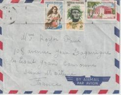 Lettre Polynésie 1961 Pour La France - Polynésie Française