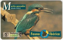 SPAIN B-099 Chip Telefonica - Animal, Bird, Kingfisher - Used - Basisausgaben