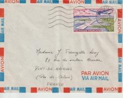 Lettre Polynésie 1962 Pour La France - Polynésie Française