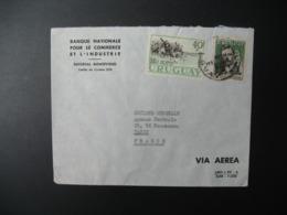 Enveloppe  Uruguay  Banque Nationale Pour Le Commerce Et L'Industriesiège Montévidéo Pour La Sté Générale France Paris - Uruguay