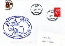 FREGATE FLF LAFAYETTE Mission Jeanne D'Arc 2019 Obl. V 10486 25/02/19 - Postmark Collection (Covers)