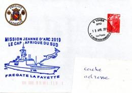 FREGATE FLF LAFAYETTE Mission Jeanne D'Arc 2019 Ecale Au Cap Obl. V 10486 25/04/19 - Postmark Collection (Covers)