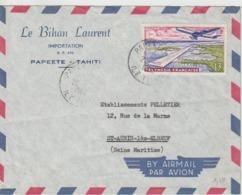 Lettre Polynésie 1963 Pour La France - Polynésie Française