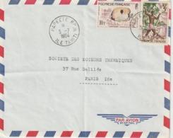 Lettre Polynésie 1964 Pour La France - Polynésie Française