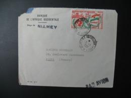 Enveloppe Niger 1962  Banque De L'Afrique Occidentalesiège De Niamey   Pour La Sté Générale En France Bd Haussmann - Niger (1960-...)