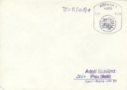 DDR Beleg Mit Sonderstempel Köthen Ausstellung Musik Und Philatelie 1985 - [6] Democratic Republic
