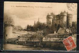 FRANCE 49 (M. Et L.)) CPA.MONTREUIL BELLAY.LE CHATEAU SUR LE THONET CIRCULE 1914.AVEC TIMBRE - Montreuil Bellay