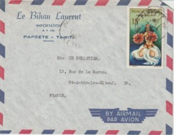 Lettre Polynésie 1965 Pour La France - Polynésie Française