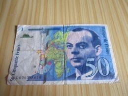 France.Billet 50 Francs St Exupéry 1997. - 1992-2000 Last Series