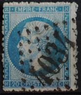NAPOLEON III. .n°22.O.4034.TROYES.( Dentelure Très Défectueuse ) Piquage Décalé. - 1862 Napoléon III