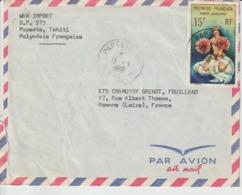 Lettre Polynésie 1966 Pour La France - Polynésie Française