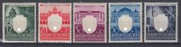 Generalgouvernement 105-109  3 Jahre Generalgouvernement Kompl. Satz Postfrisch - Besetzungen 1938-45
