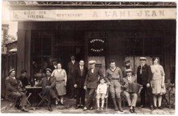 CPA PARIS.RESTAURANT A L'AMI JEAN.CARTE PHOTO - Cafés, Hoteles, Restaurantes