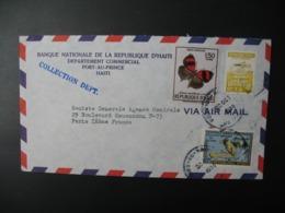 Enveloppe Haïti 1970  Banque Nationale De La République D'Haïti Port-Au-Prince   Pour La Sté Générale En France Paris - Haïti