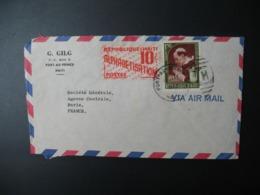 Enveloppe Haïti  G. Gilg  Port-Au-Prince   Pour La Sté Générale En France Paris + Vignette Alphabétisation - Haïti