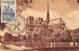 YT 776 - Notre Dame De Paris - Musée Postal - Carte Maximum 1948 - Cartas Máxima