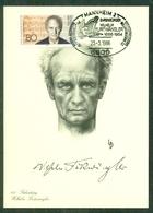 CM-Carte Maximum Card # Allemagne-Berlin 1986 # Wilhelm Furtwängler, Compositeur, Komponist,composer, Obl. Mannheim - Maximum Cards