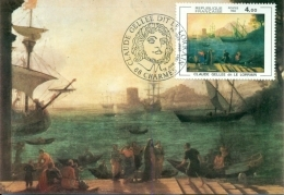 CM-Carte Maximum Card # France-1982 # Art # Peinture,Gemalde, Painting  By  Claude Gellée #Charmes - Maximumkaarten