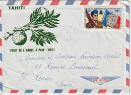 Lettre Polynésie 1972 Pour La France - Lettres & Documents