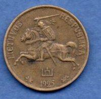 Lituanie  -  20 Centu  1925   -- Km # 74 - état TTB - Lituanie