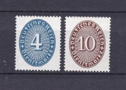 Deutsches Reich - 1933 - Dienstmarken - Michel Nr. 130/131 X - Ungebr. - 70 Euro - Alemania