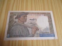 France.Billet 10 Francs Mineur 10/03/1949. - 1871-1952 Anciens Francs Circulés Au XXème