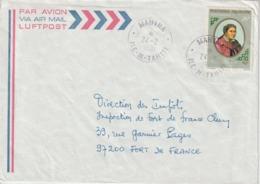 Lettre Polynésie 1981 Pour La Martinique - Storia Postale