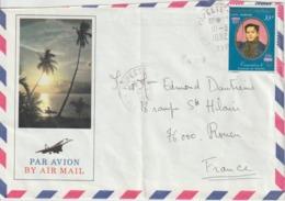 Lettre Polynésie 1982 Pour La France - Storia Postale