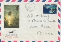 Lettre Polynésie 1983 Pour La France - Storia Postale