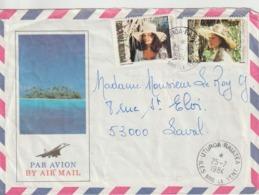 Lettre Polynésie 1984 Pour La France - Storia Postale