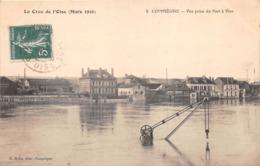 ¤¤   -   COMPIEGNE   -  La Crue De L'Oise   -  Vue Prise Du Port à Vin    -   ¤¤ - Compiegne
