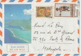 Lettre Polynésie 1985 Pour La France - Storia Postale
