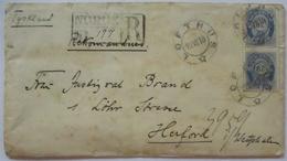 Medizin Gymnastik, R-Brief 1910 Aus Lofthus Abs.: Bess Mensendieck (34741) - Norwegen
