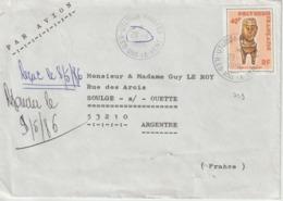 Lettre Polynésie 1986 Pour La France - Polinesia Francese
