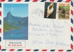 Lettre Polynésie 1987 Pour La France - Storia Postale