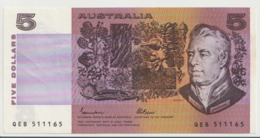 AUSTRALIA P. 44e 5 D 1980 AUNC - 1974-94 Australia Reserve Bank (paper Notes)