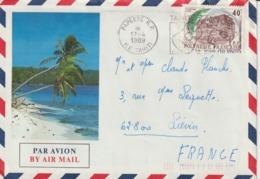Lettre Polynésie 1989 Pour La France - Storia Postale