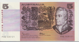 AUSTRALIA P. 44e 5 D 1980 UNC - 1974-94 Australia Reserve Bank (paper Notes)