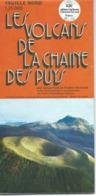 Carte Morphostructurale De La Chaîne Des Puys - 1/25 000ème - 1973. - Cartes Topographiques